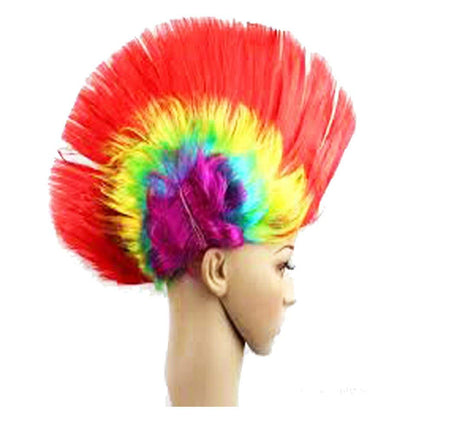 Colorful Multicolored Costume Wigs Hen cap Rock Party Fancy Wig Cap Murga Cut Design Special for Holi Festival ,Rock Party ,Theme Party & Fancy Dress Costume