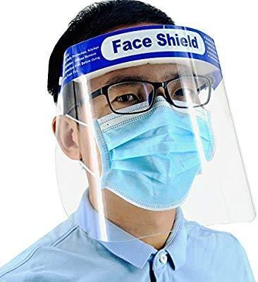 Ratehalf® Reusable Safety Face Shield, Anti-fog Full Face Shield, Universal Face Protective Visor for Eye Head Protection, Anti-Spitting - 5 pcs - halfrate.in