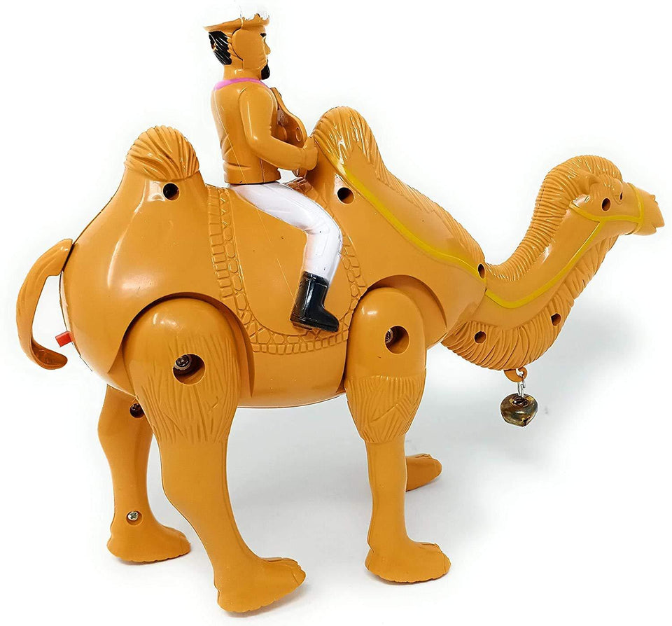 Camel Toy - Walking Light Sound Camel , Battery Operated Walking Camel - for Kids Dubai Theme Desert Camel Toy for Kids Musical Toy Camel - halfrate.in