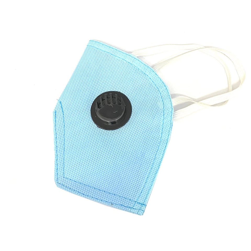 Ratehalf® 5 ply High filtration Reusable Wellness Mask Dust Pollution Washable Mask with Breathing valve (Blue) - 2pcs - halfrate.in