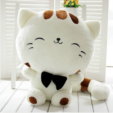 Cute Cat Plush Soft Toy Stuffed Toys (White, 25cm)
