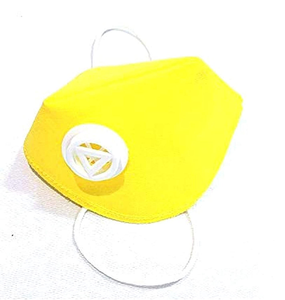 Ratehalf® 3 ply Yellow High filtration Reusable Wellness Mask Dust Pollution Washable Mask with Breathing valve -2pcs - halfrate.in