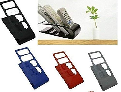 4-Slot Home Desk Tv AC Remote Control Storage Holder Organizer Stand - Desktop Remote Control Shelf - halfrate.in
