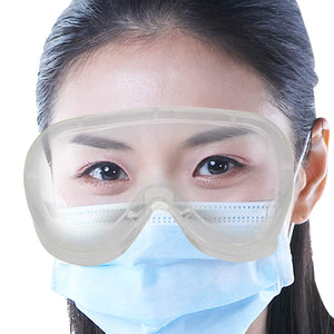 Safety Goggles Poly-carbonate Lens Eye Protection Glass Clear Anti-Droplets Anti-Fog - 2 pcs - halfrate.in