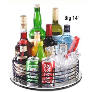 Kitchen organiser Round Revolving Big Multipurpose Tray,  Revolving Rack, Space saver , Dining accessories, 14 inch - halfrate.in