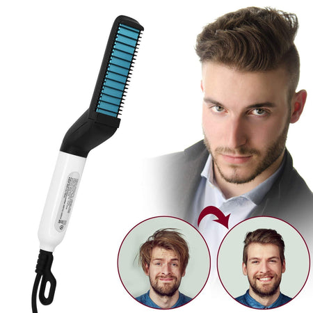 Ratehalf® Electric Beard Straightener for Men - Professional Quick Styling Comb for Frizz-Free Beard - halfrate.in