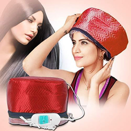 Electric Thermal Head Hair Spa Cap, Hair Care Thermal Treatment with Beauty Steamer Nourishing Heating Cap, Spa Cap Steamer - halfrate.in