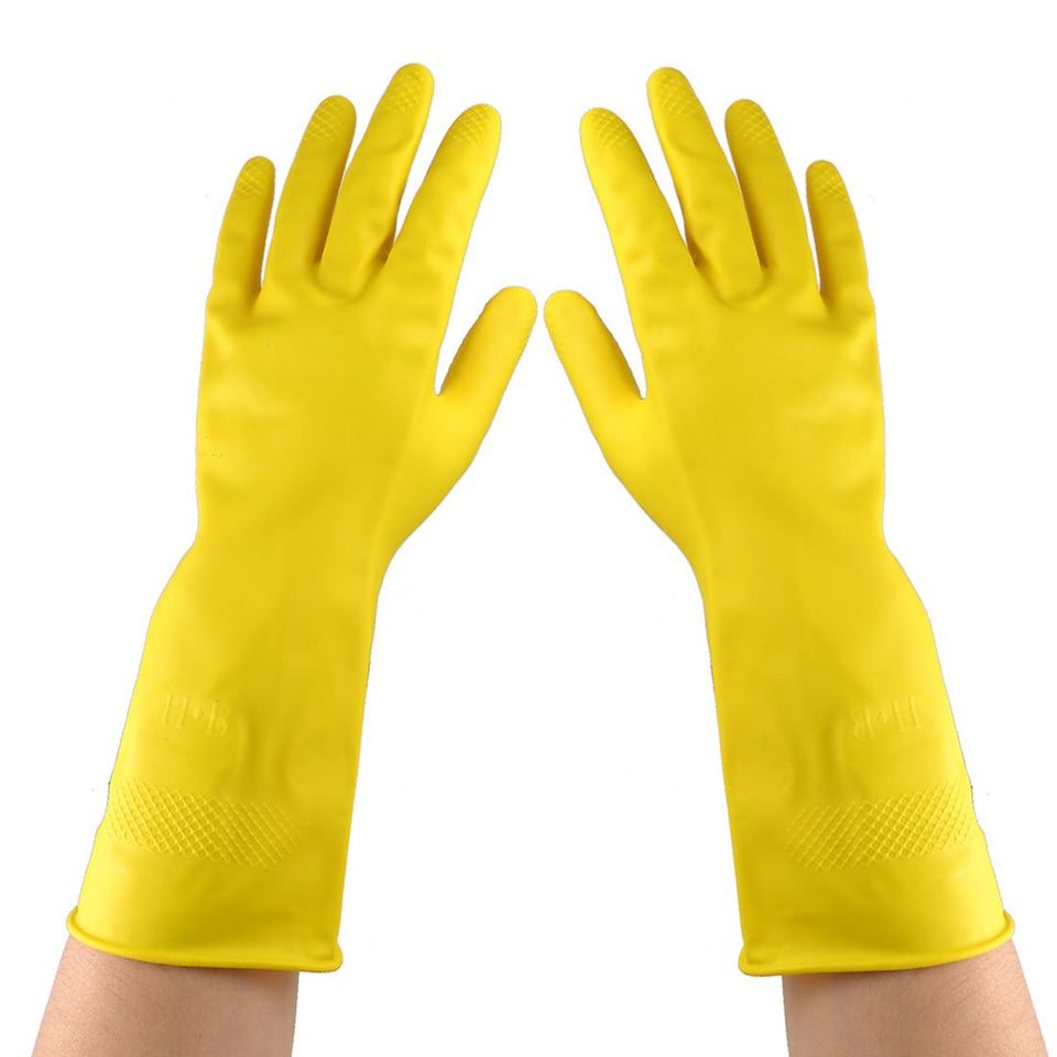 KITCHEN GLOVES HOUSEHOLD PROTECTOR HAND GLOVES WASHING CLEANING WASHROOM - halfrate.in