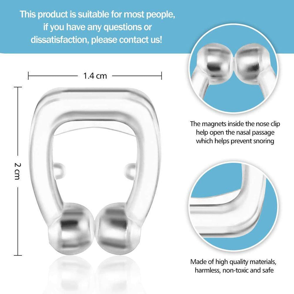 Magnetic Anti Snore Device Nose Clip Sleeping Aid Guard Snore Stopper Night Device For Men & women - halfrate.in