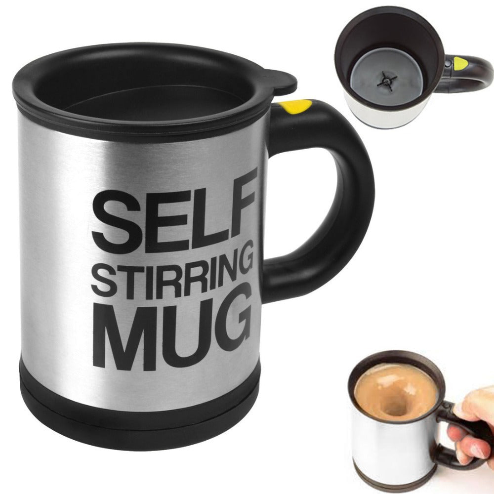 Stainless Self Auto Stirring Coffee mixing Mug Cup Office Home Gifts - halfrate.in