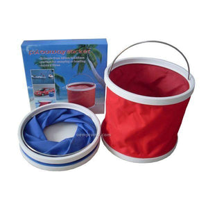 Waterproof Collapsible 9 Liters Folding Foldaway Collapsible Bucket - halfrate.in