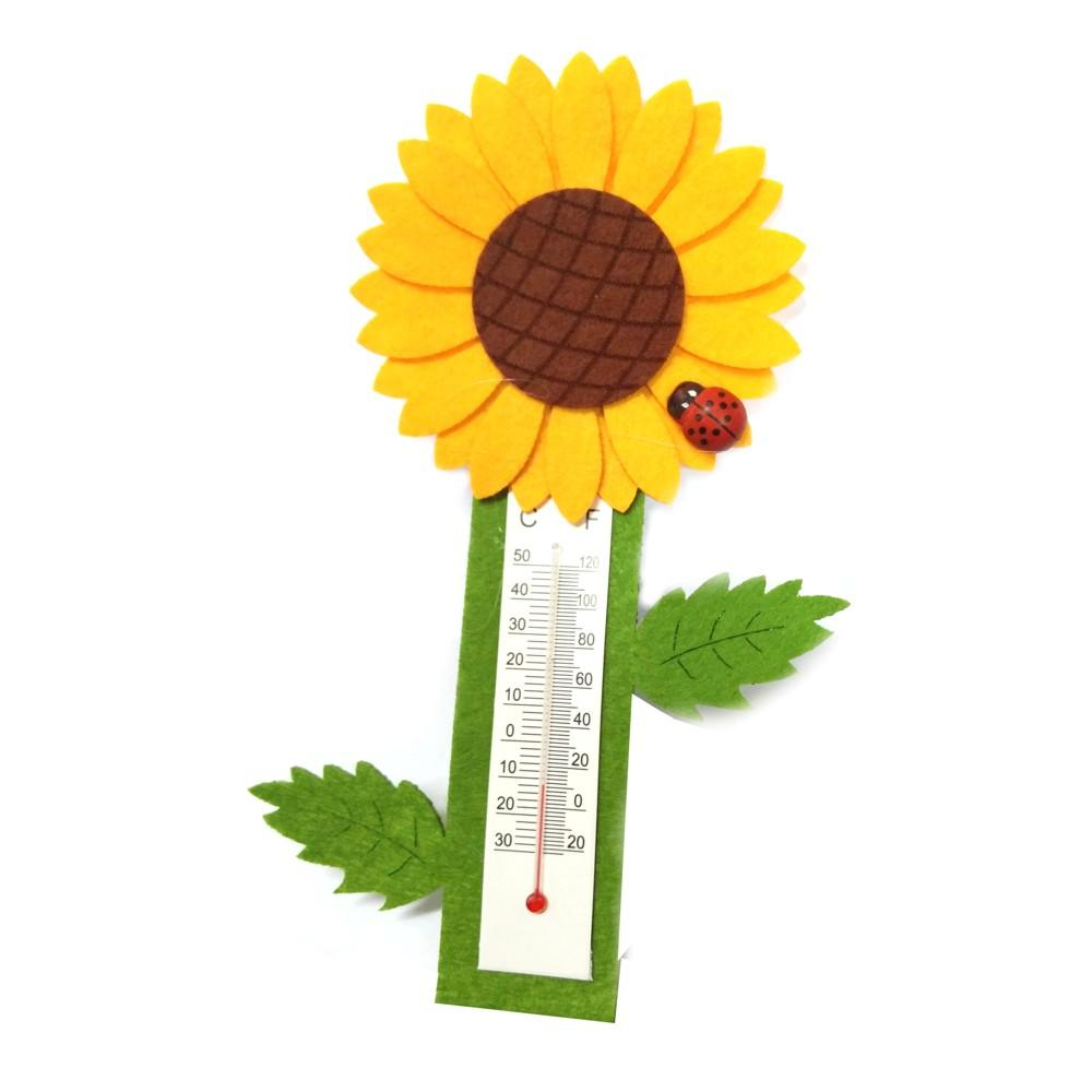 Beautiful Sunflower Shape Room Thermometer - halfrate.in