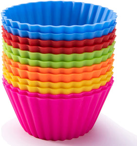 Silicone Cup Cake Moulds Round- 12 Pcs - halfrate.in