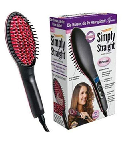 2 in 1 Simply Hair Straightener Straight Ceramic Hair Straightener Brush Perfectly Straight Hair Brush and Comb for Women - halfrate.in