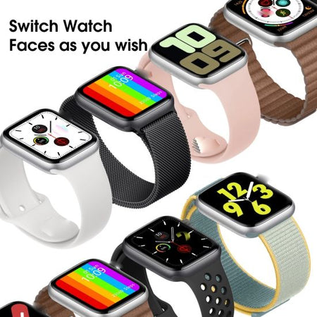 W46 Smart Watch Infinite Screen 44mm Watch Series 6 Smart Watch Bluetooth Call ECG Temperature Smart Watch