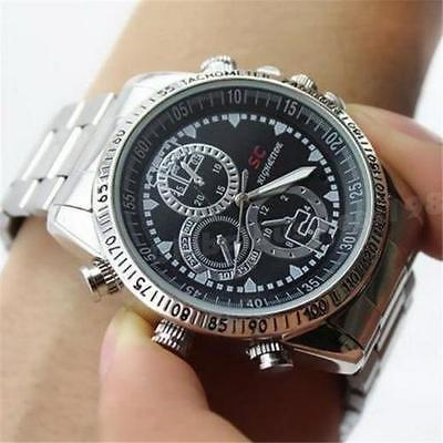 Steel Wrist Watch Hidden SPY Camera Gadget, 4GB Memory VIDEO AND AUDIO, PHOTO - halfrate.in