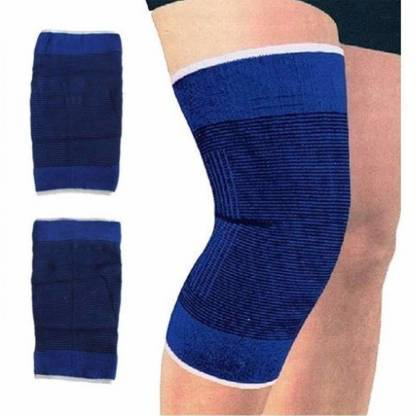 Ratehalf® Useful Elastic Knee Support Band blue - pair - halfrate.in