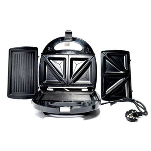Deluxe Electric Grill cum sandwich Maker - Separate plates for Grilling and sandwiches - halfrate.in