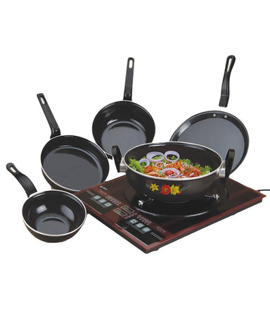 New Cook and Serve Set 5 Pcs - Enamelware - halfrate.in