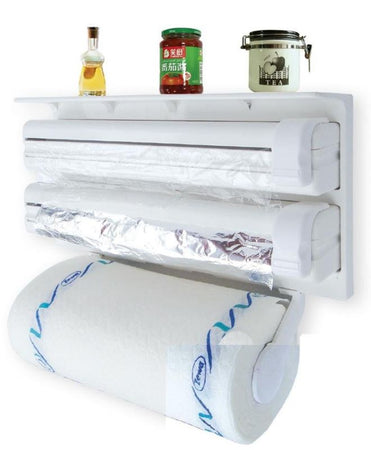 Tri Wrap 3-in-1 Paper Tissue Roll + Aluminium Foil + Plastic Wrap/Cling Film - halfrate.in