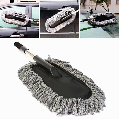 Car Cleaning Microfiber Duster Microfiber Flexible Car Wash Dust Wax Mop Car Washing Brush - halfrate.in