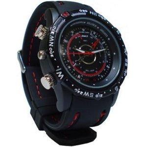 Black Wrist Watch Hidden SPY Camera Gadget, 4GB Memory VIDEO AND AUDIO, PHOTO Spy Watch - halfrate.in