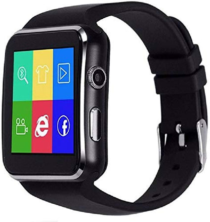 X6 Bluetooth Smart Watch X6 Featured with Sim Card Slot Touch Screen for All 2G, 3G, 4G Phone with Camera Activity Trackers and Fitness Band