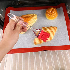 Silicone Spatula And Pastry Brush Set - For Cake Mixer, Decorating, Cooking, Baking, Glazing - halfrate.in
