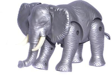 Musical and Walking Elephant Battery Operated Toy (Grey and Black) - halfrate.in