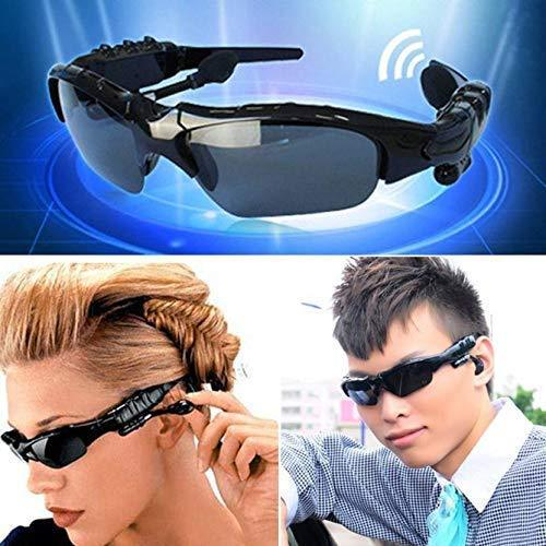Ekdant® Portable Wireless Bluetooth Sunglasses for Men Headphones with Polarized Lenses & Stereo Sound Feature (Black) - halfrate.in