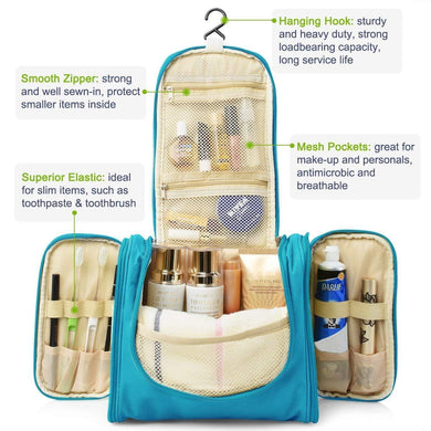 Travel Toiletry Bag Large Capacity cosmetic organizer Multi-functional Hanging Wash Bag Travel Toiletry Kit Travel Toiletry Kit - halfrate.in