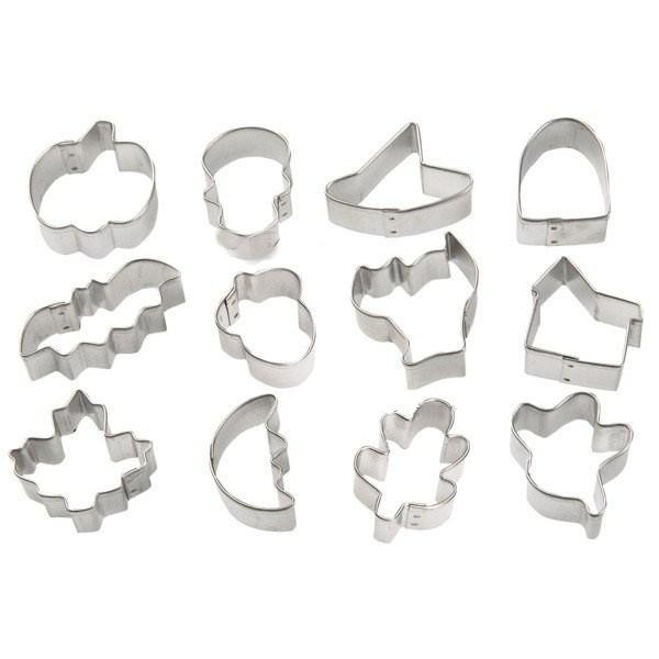 Cookie Cutter Stainless Steel Cookie Cutter With 12 Assorted Shapes - halfrate.in
