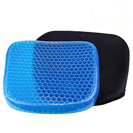 Soft Breathable Honeycomb Rubber Gel Flex Silicon Back Support Seat Sitter Pillow/Cushion - halfrate.in