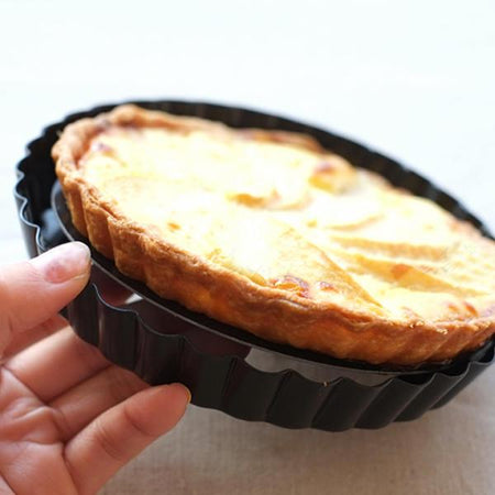 Non-stick Pizza Pan, Baking mould, Quiche Pan, Tart Pie Pan With Removable Bottom - halfrate.in