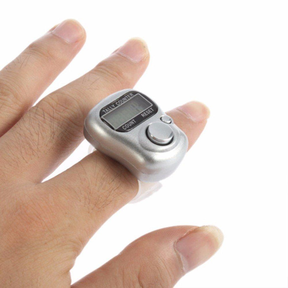 Mini Hand Tally Counter Finger Ring Digital Electronic Hand Count, Japa Counter pack of 2 - halfrate.in