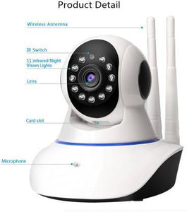 HD 720P IP CCTV Security Camera V380 WiFi Wireless Connectivity, 2 Way Audio Support 128 Gb SD Card - halfrate.in