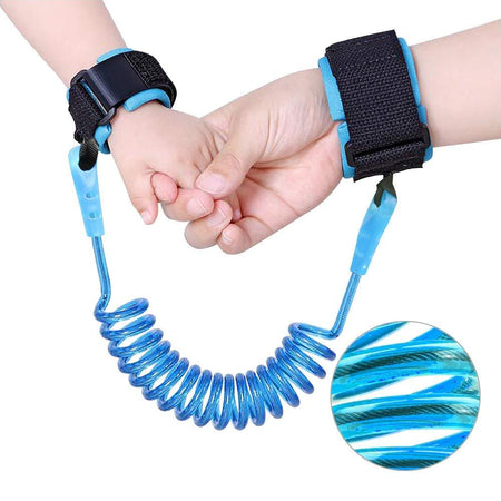 Child Anti Lost Wrist Link Skin Care Wrist Link Belt Sturdy Flexible Safety Wristband Leash Travel - halfrate.in
