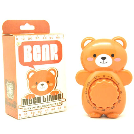Kitchen Timer, Caliamary Bear Mechanical Cute Kitchen Timers, Mini 55 Mins Animal Timer for Baking Cooking - halfrate.in