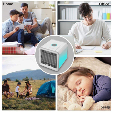 Air Cooler Mini Air Conditioner Humidifier Mini Portable Air Cooler Fan Arctic Air Personal Space Cooler - halfrate.in