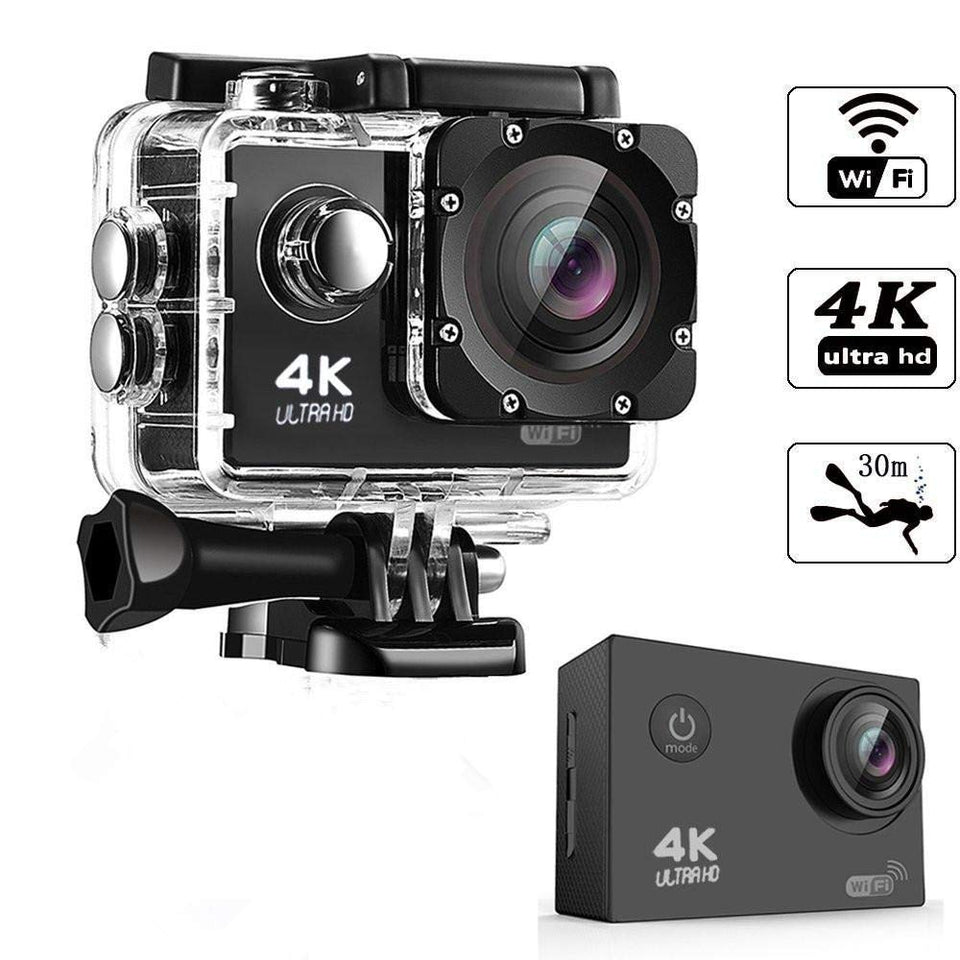 Ekdant®4K Water Resistant Sports Wi Fi Action Camera with Remote Control and 2 Inch Display