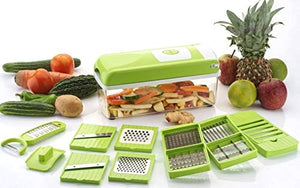 Vegetable Chopper 12 in 1 Fruit & Vegetable Graters, Nicer, Slicer, Chipser, Dicer, Juicer, Mixer & Blenders, Cutter Chopper - halfrate.in