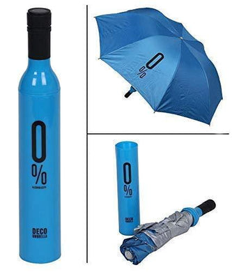 Ultra Umbrella Double Layer Folding Portable Umbrellas with Bottle Cover for UV Protection & Rain | Outdoor Unisex (Assorted Color), 110 cm - halfrate.in