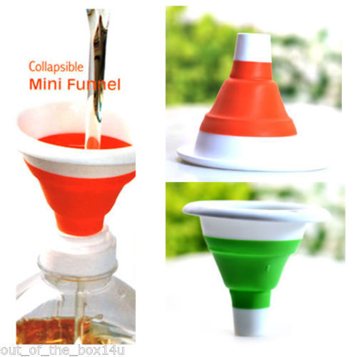 Small Collapsible Mini Plastic Silicone Oil Sauce Funnels - halfrate.in