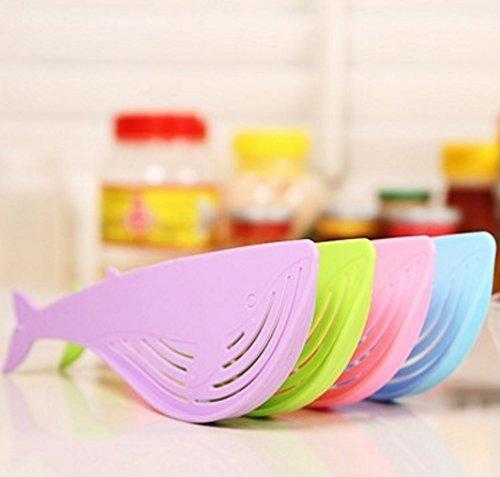 Fish Shaped Plastic Wash Rice Vegetable Fruit Noodles Sieve Colander Strainer Drainer - halfrate.in