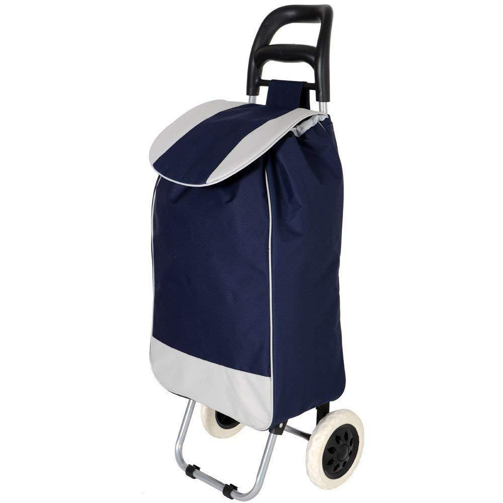 Folding Essential Shopping Trolley Luggage - Bag With 2 Wheels - halfrate.in