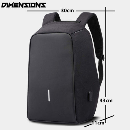 Anti-Theft Water Resistant Computer USB Charging Port Lightweight Laptop Backpack Bag Fitting 15.6-inch Laptops Tablets - halfrate.in