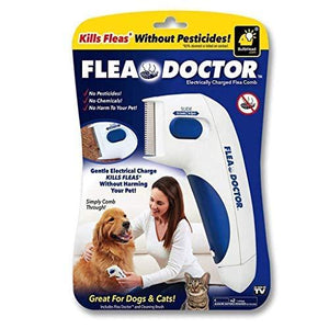 Flea Doctor | Electronic Flea Comb |Electric Comb | Electric Comb for Pets, Dogs, Cats | Without Pesticides | Naturally Kill Tick and Remove Fleas Grooms - halfrate.in