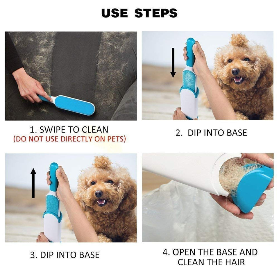 Pet Fur and Lint Remover Pet Hair Remover Double Sided Self-Cleaning and Reusable Pet Fur Remover - halfrate.in