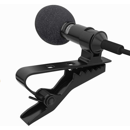 Ekdant® 3.5mm Clip On Mini Lapel Lavaliere Microphone / collor mic (Black) - halfrate.in