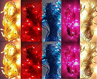Plastic Rice Lights 10 mtr Serial Bulbs Ladi Decoration Lighting Multicolour for Indoor, Outdoor, DIY, Diwali Christmas Eid and Other Festive Season